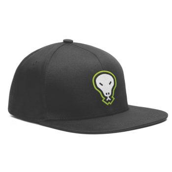 Flatgekko™ Skull Black Snapback Baseball Cap