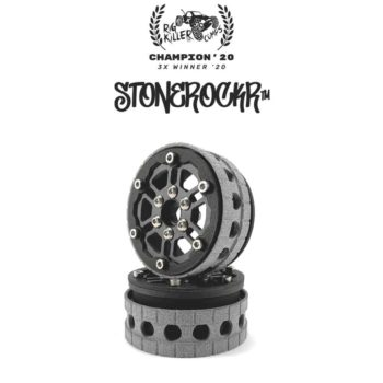 "PROCRAWLER® Flatgekko™ Stonerockr™ Douwe's Humz 1.9"" LCG Offset Wheel Set /w Black Front Ring"