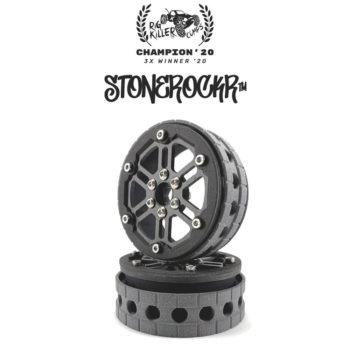 "PROCRAWLER® Flatgekko™ Stonerockr™ Douwe's Humz 2.2"" Narrow LCG Offset Wheel Set /w Black Front Ring"